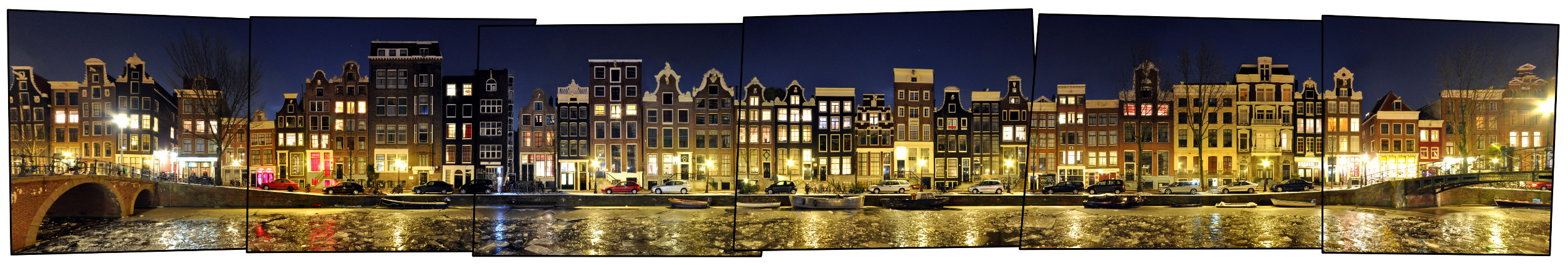 Amsterdam Oudezijds Voorburgwal Holland Panorama