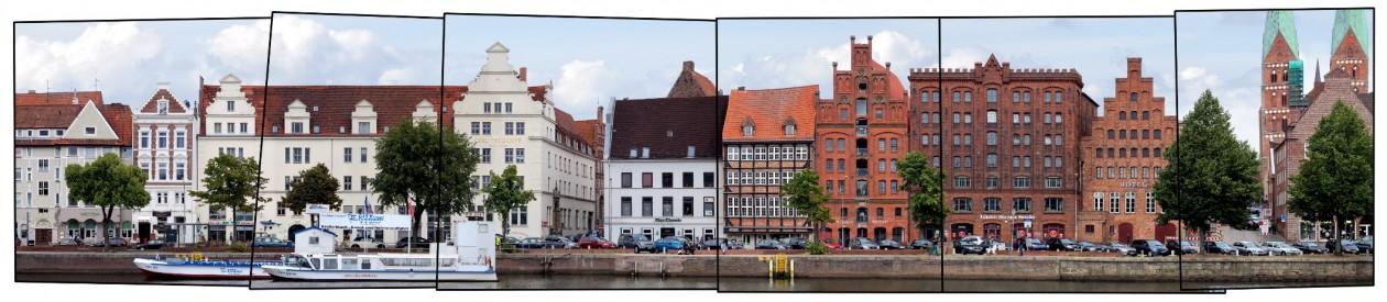 Luebeck Marzipan Speicher Fassade Bild
