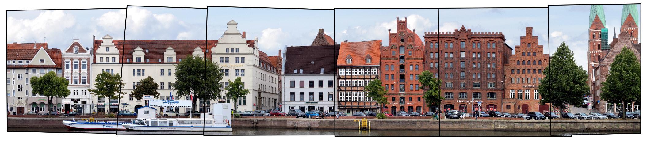 Lübeck An der Untertrave Panorama Deutschland Schleswig-Holstein