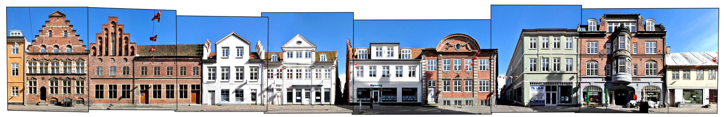 Helsingor Danmark Panorama Stengade