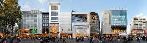 Schildergasse Shopping Panorama Foto Image