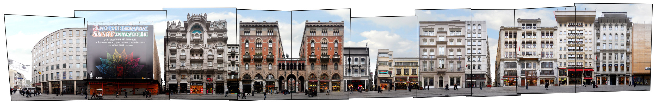 Istanbul Istiklal Caddesi Panorama Architecture