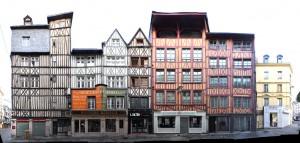 Rouen Fachwerk Frankreich