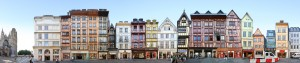 Rouen France Panorama half timbered framed