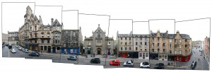 Edinburgh Panorama street view photography
