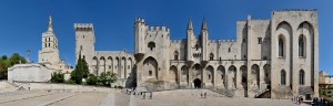 Palais des Papes France Avignon Panorama