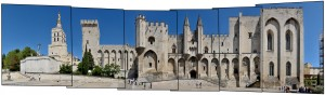 Palais des Papes Architecture Gothic View Street France
