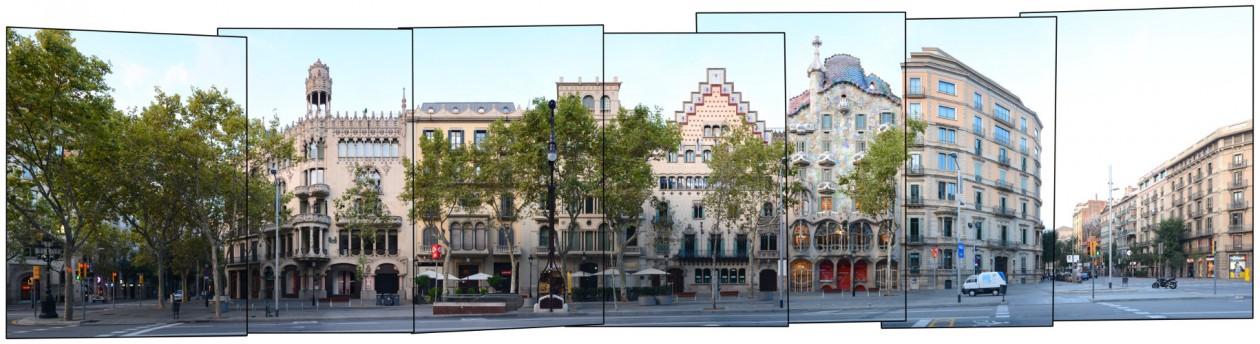 Panorama Casa Batllo Passeig de Gracia Amatllo