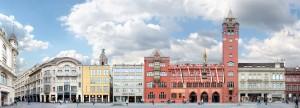 Basel Basle Market Square Cityscape