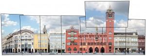Basel Basle Marktplatz Architektur Panorama
