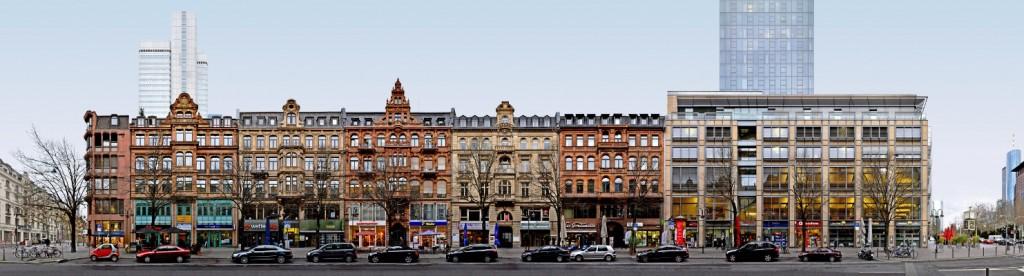 Kaiserstrasse streetview Frankfurt panorama image foto