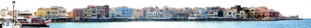 Hafen Chania Westseite Panorama Foto
