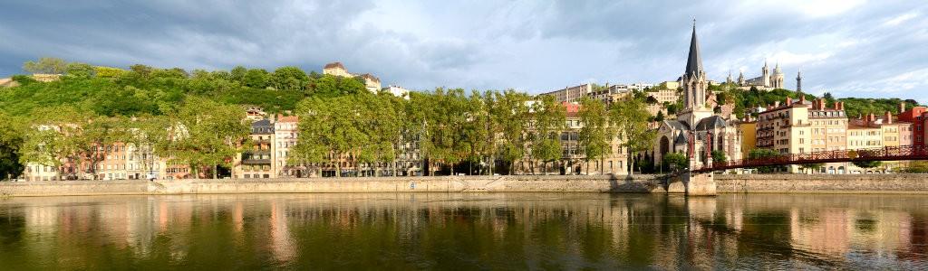 Saône river panorama Lyon