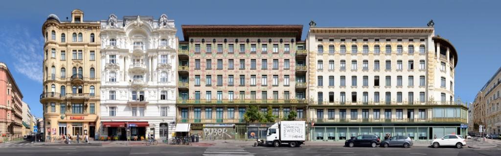 Wien Vienna Wienzeilenhäuser
