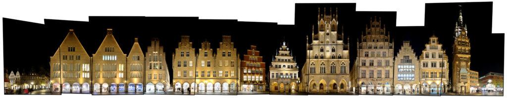 Münster Leinwand Prinzipalmarkt Rathaus